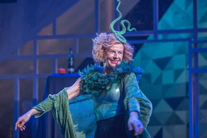 Twelfth Night Doon Mackichan as Feste,image by Marc Brenner