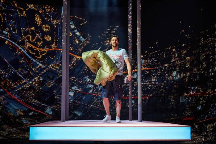Ugly Lies the Bone at the National Theatre. Ralf Little (Stevie) Photo by Mark Douet