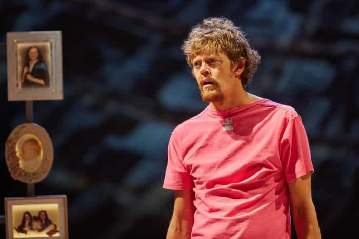 Ugly Lies the Bone at the National Theatre.Kris Marshall (Kelvin) Photo by Mark Douet