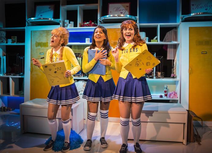 Vanities The Musical - Trafalgar Studios - Lauren Samuels, Ashleigh Gray and Lizzy Connolly - Photo by Pamela Raith