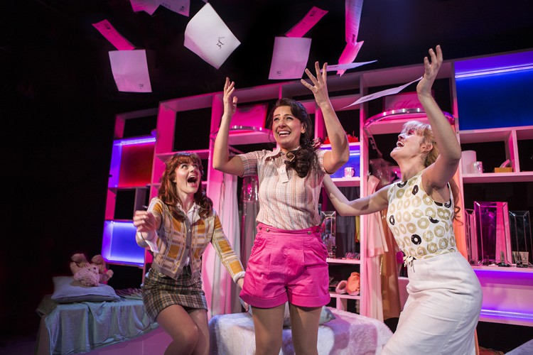 Vanities The Musical - Trafalgar Studios - Lizzy Connolly, Ashleigh Gray & Lauren Samuels - Photo by Pamela Raith