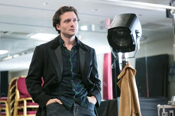 David Oakes in rehearsals for Venus In Fur