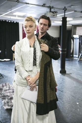 Natalie Dormer and in rehearsals for Venus In Fur