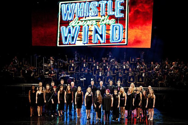 The West End Heroes Choir perfirm Whistle Down the Wind Photo Claire Bilyard