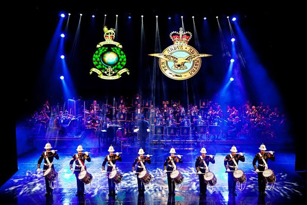 The Royal Marines Corps of Drums Photo Claire Bilyard