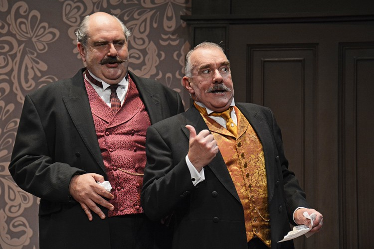 Adrian Hood as Albert Parker and Mark Stratton as Joe Helliwell-® When We Are Married Photograph By ©Nobby Clark