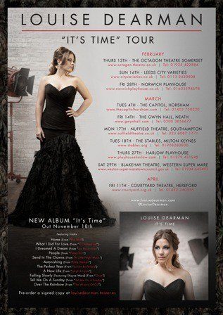 Louise Dearman tour poster