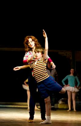 Mrs Wilkinson (Ruthie Henshall) and Billy Elliot (Matteo Zecca) Photo credit Alastair Muir