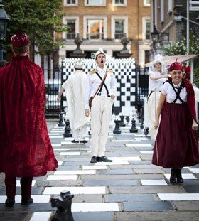 Alice Through the Looking GLass Nick Howard-Brown as White Knight, Anne-Marie Piazza as  Red Queen and others