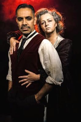 Todd David Bedella as Sweeney Sarah Ingram as Mrs Lovett  Photographer Darren Bell