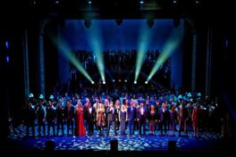 West End Heroes Michael Ball leads the cast in the finale Do You Hear the People Sing from Les Miserables Photo Claire Bilyard