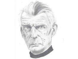 Drawing of Samuel Beckett