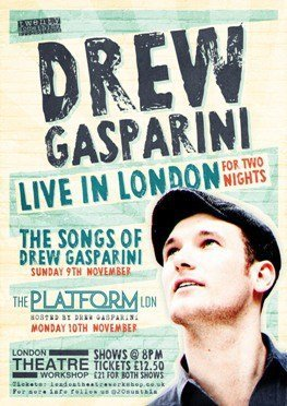 Drew Casparini Live in London Poster