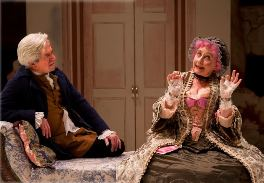 Nick Le Prevost as Sir Anthony and Gemma Jones as Mrs Malaprop.