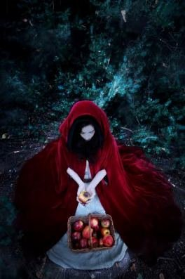 Red Riding Hood Cape and Apples