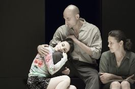 A View from a Bridge Phoebe Fox (Catherine), Mark Strong (Eddie) and