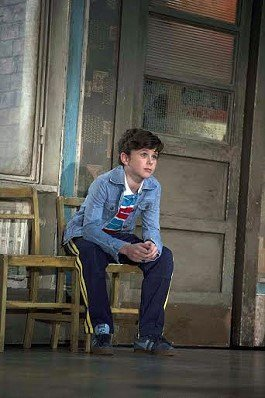 Brodie Donougher (Billy Elliot) in Billy Elliot the Musical at the Victoria Palace Theatre.