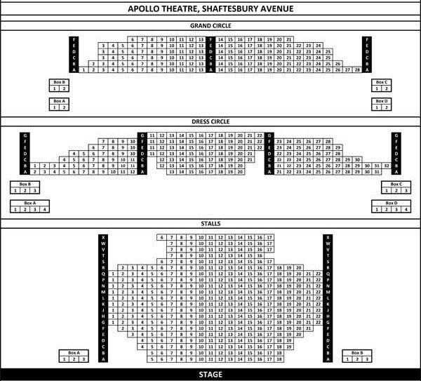 Apollo Theatre London Seating Plan 2015