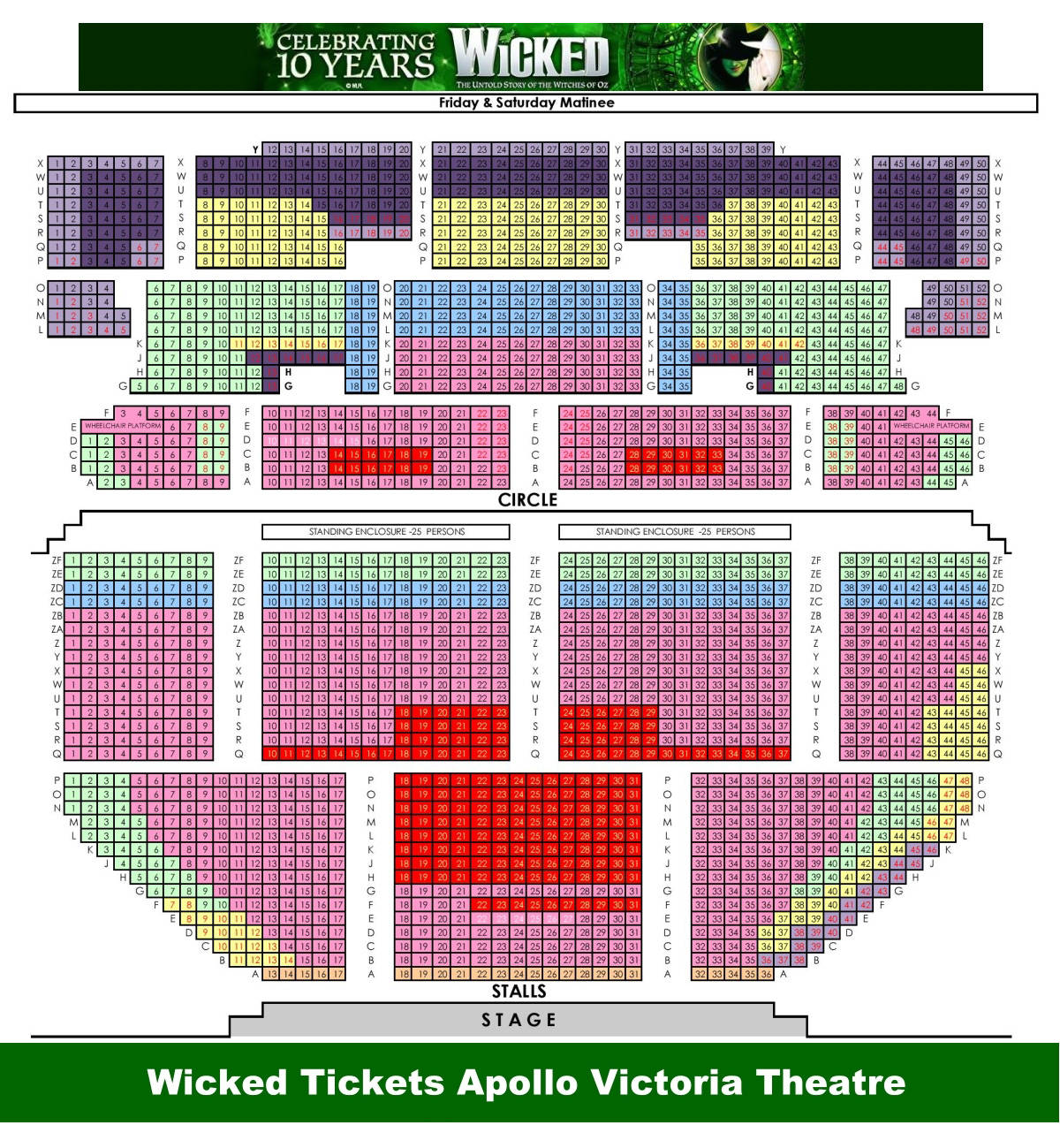 Apollo Victoria Theatre Seating Plan London United Kingdom