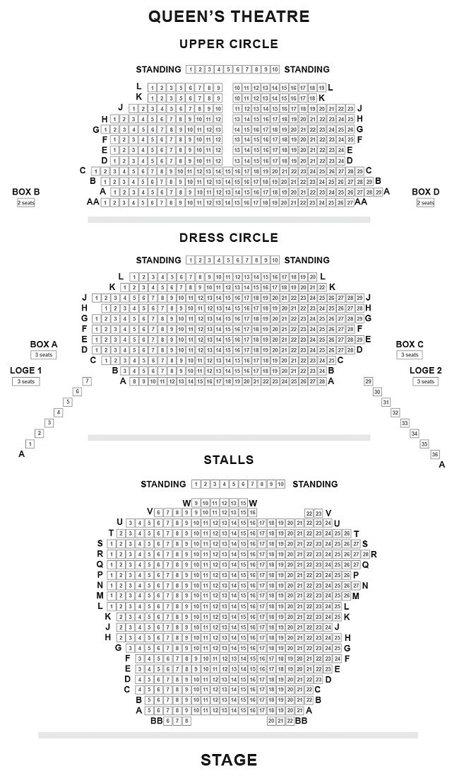 Queen's Theatre Seating Plan