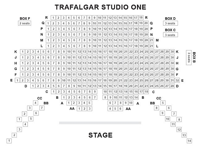 Trafalgar Studios One Seating Plan