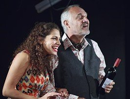 Muswell Hill at the White Bear Theatre. Nicole Abraham (Annie) and Gregory Cox (Tony)