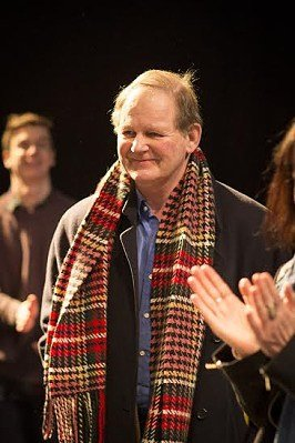 Michael Morpurgo at first day of new cast rehearsals for War Horse at New London Theatre. Photo Helen Maybanks