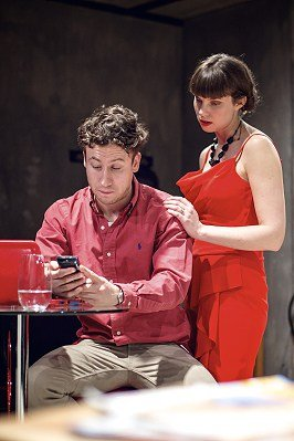 Muswell Hill at Park Theatre. Jack Johns (Mat) and Annabel Bates (Jess).