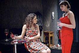Muswell Hill at Park Theatre. Nicole Abraham (Annie) and Annabel Bates (Jess).