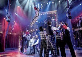 BARNUM - Linzi Hateley as Chairy, Brian Conley as PT Barnum. And company.  <br/>Photo by Johan Persson