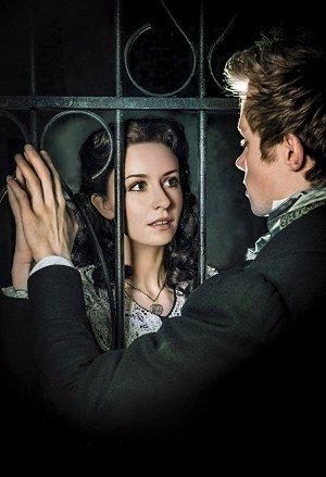 LES MISÉRABLES 30th Anniversary Postcards. The Lovers. Emilie Fleming as 'Cosette' and Rob Houchen as 'Marius'. Photo by Matt Crockett