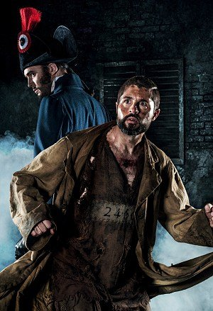 LES MISÉRABLES 30th Anniversary Postcards. Peter Lockyer as 'Jean Valjean' and David Thaxton as 'Javert'.