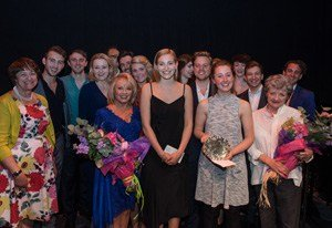 SSSSPOTY 2015, Erin Doherty and Leah West (courtesy David Ovenden - The Stephen Sondheim Society)