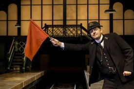 Andrew Dunn as Mr Perks in The Railway King's Cross Theatre