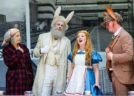Alice In Wonderland cast photograph