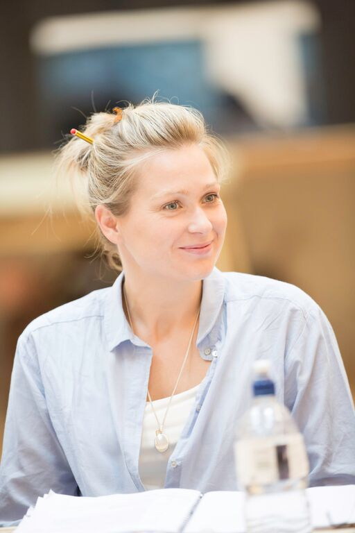 Siân Brooke (Ophelia) in rehearsals for Hamlet Photo credit: Johan Persson