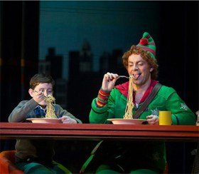 Ben Forster in Elf The Musical. Photograph by Alastair Muir