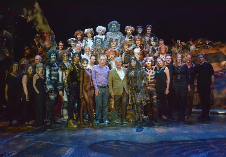 Andrew Lloyd Webber and Cameron Mackintosh meet the cast of Cats Blackpool