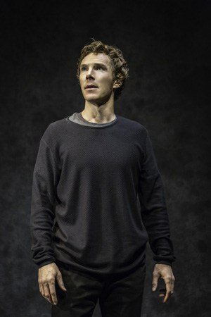 Benedict Cumberbatch (Hamlet) in Hamlet at the Barbican Theatre