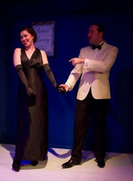 Lianne Harvey as Louise and James Sindall as Karl Sandys, A Naughty Night with Noel Coward Photo by Ben Coverdale