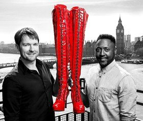 Stars of Kinky Boots - Killian Donnelly and Matt Henry