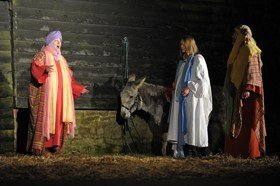 Dress rehearsal the Wintershall Nativity, 2013