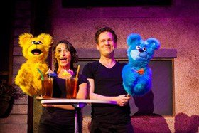 Jessica Parker and Stephen Arden as The Bad Idea Bears in Avenue Q.