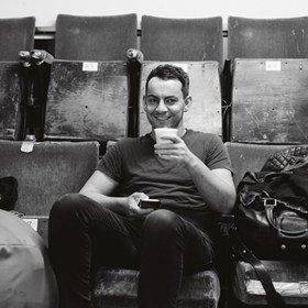 Ben Forster in rehearsals for Elf The Musical.