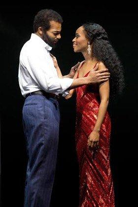 l-r Brandson Victor Dixon (Berry Gordy), Valisia LeKae (Diana Ross)