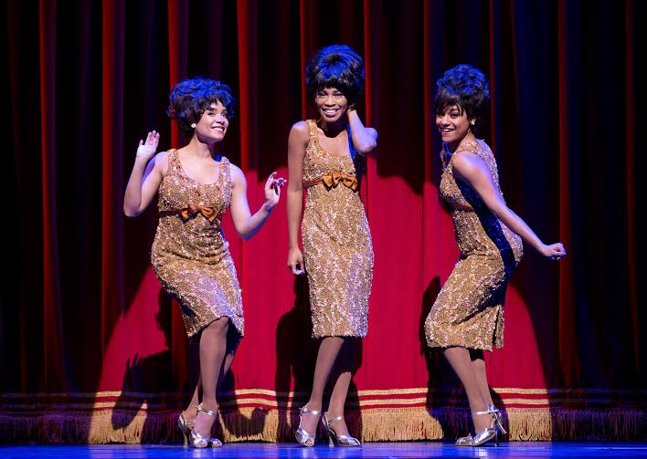 Sydney Morton, Valisia LeKae and Ariana DeBose as The Supremes, photo by Joan Marcus