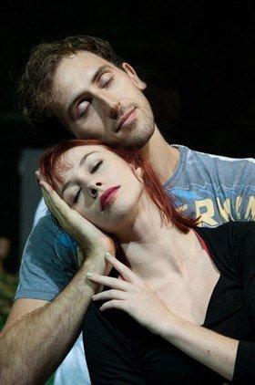 Rehearsal Images - Matthew Bourne's Sleeping Beauty. Cordelia Braithwaite (Aurora) and Chris Trenfield (Leo).