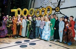 Backstage at Wicked London Apollo Victoria Theatre - 7 millionth theatregoer Photo by Troy Johnston