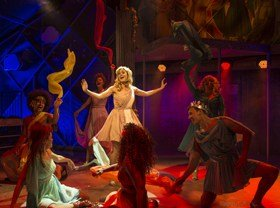 Carly Anderson and the company of Xanadu