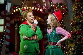 Ben Forster as Buddy and Kimberley Walsh as Jovie in Elf